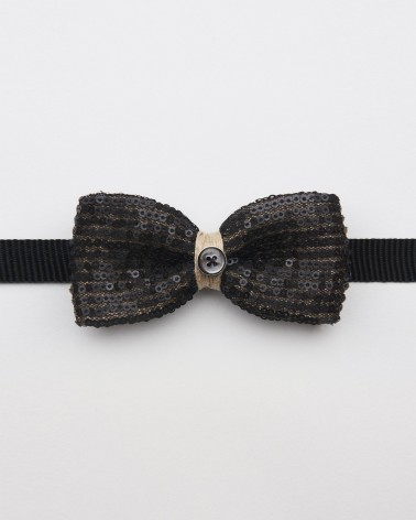Bow Tie Black Paillettes