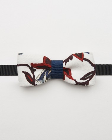 Bow Tie Botanical Blue