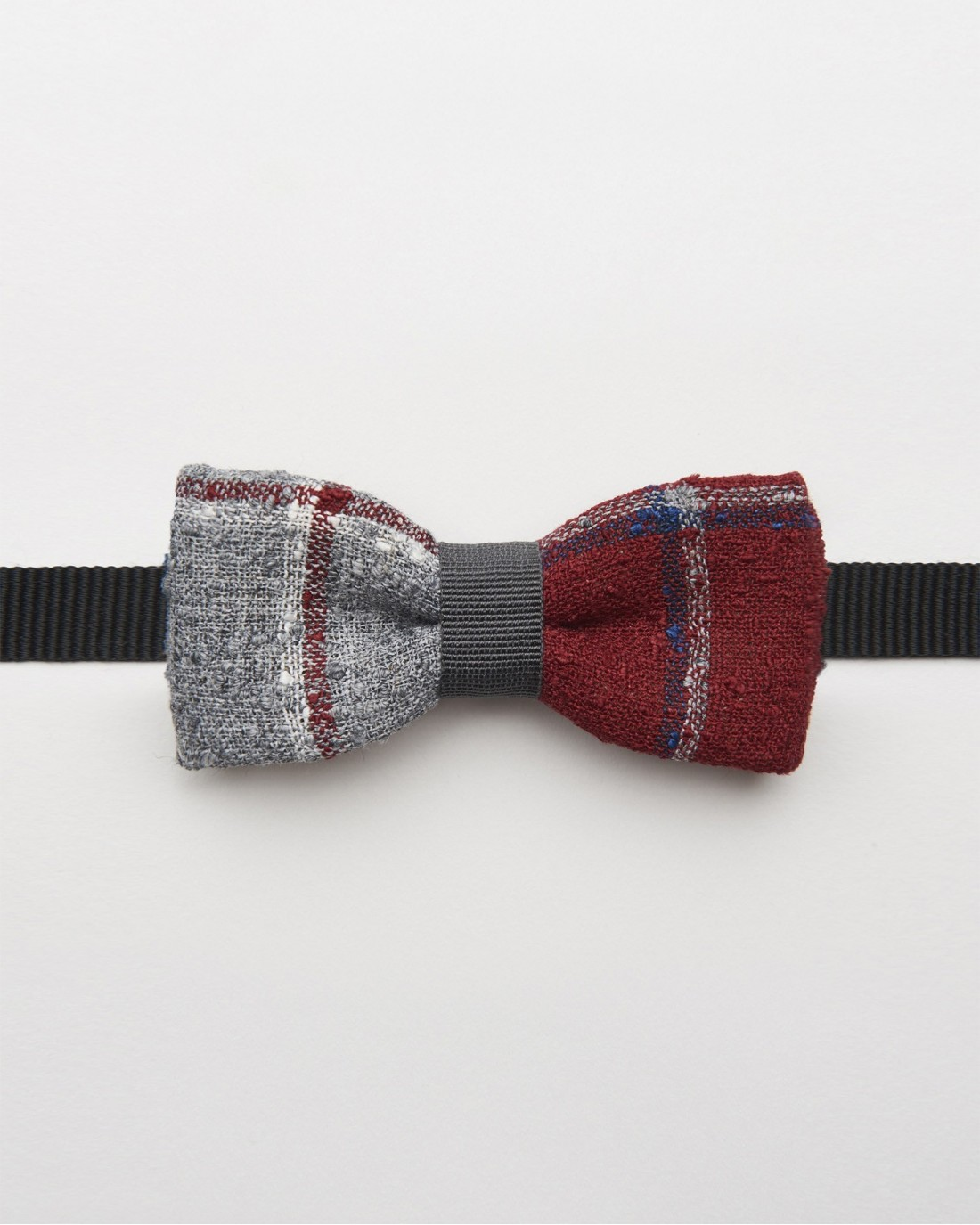 Bow Tie Gray Red