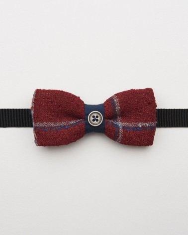 Bow Tie Linen Red