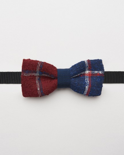 Bow Tie Linen Red Blue