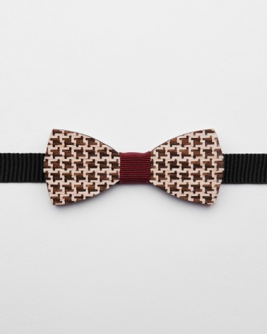 Bow Tie Pied Poul Red