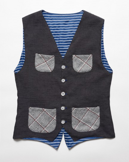 Vest Black & Grey Pockets