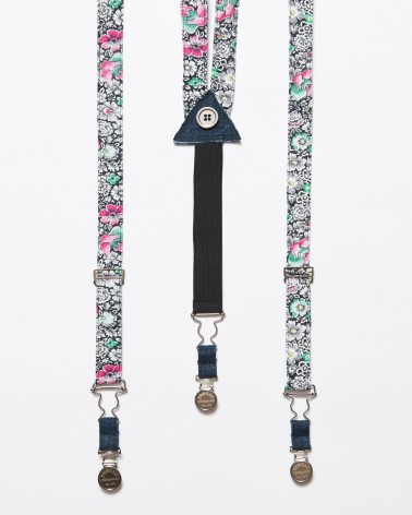 Suspenders Black Garden