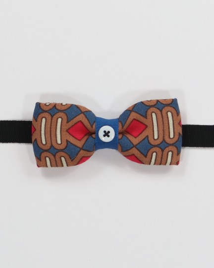 Oakland Bow Tie - Multicolor geometrical pattern fabric men's pre tied with adjustable strap